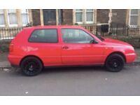VW Golf, 1.4, MK3, Petrol, Low mileage, Red, Alloys