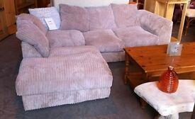 jumbo cord corner sofa. beige brown