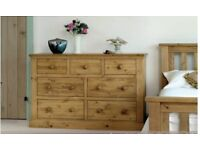 Solid, Quality Pine chest of drawers from Pinetum Tuscan range, wax finish (2 items available)