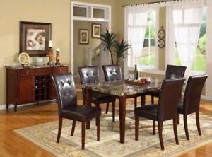 ANNIVERSARY PRICING !!!! FAUX MARBLE TABLE AND 4 CHAIRS