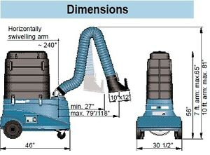 fume extractor, air dryer unit