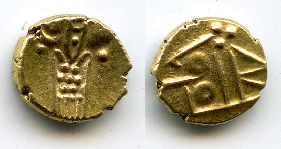 Superb quality gold fanam, Dutch VOC company in Tuticorin, ca.1658-1795, India