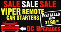REMOTE CAR STARTERS from $199 @ DC Upgrades