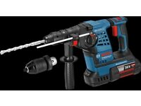 Bosch GBH 36 VF-LI PLUS 36V SDS Hammer Drill with Quick Change Chuck (2 x 4.0ah Li-ion Battery) +