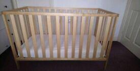 Mothercare Cot Takes 120xcm mattress