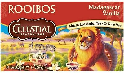 Celestial Seasonings Rooibos Tea, Madagascar Vanilla 20 ea
