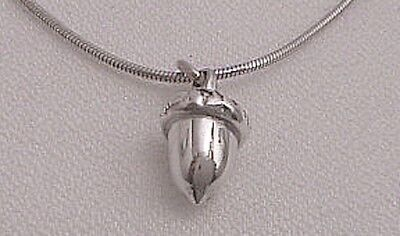 j.ERIK STERLING SILVER SMALL ACORN CHARM, NEW