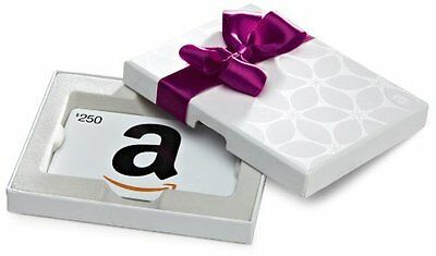 $250 Amazon Gift Card In a Nice Gift Box, Ultra-Fast Free 1-Day Delivery.