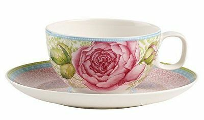 Villeroy Boch Rose Cottage Tazza da tè e piattino, colore: rosa  Rosa Rose Cottage