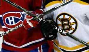 2 BILLETS TICKETS BOSTON CANADIENS GRIS 302 A CENTER LUNDI 17/12