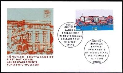 BRD 2001: Kiel! FDC der Nr. 2198 mit den Berliner Ersttagssonderstempeln! 1712