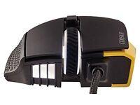 Corsair SCIMITAR Multi-Colour RGB, Black/Yellow & STRAFE RGB Mechanical Keyboard, Cherry MX Red