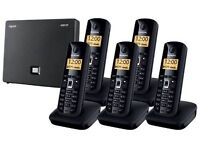 Siemens Landline & Voip telephone system with 6 handsets perfect for small company