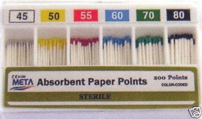 Dental Absorbent Points Paper Points - 45-80