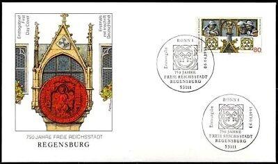 BRD 1995: Regensburg! FDC der Nr. 1786 mit Bonner Ersttagssonderstempeln! 1807