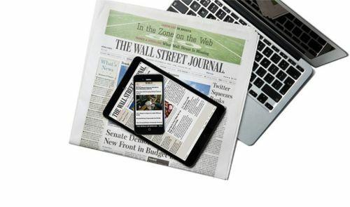 Wall Street Journal Subscription Print & Digital 1 Year WSJ STARTS IN 5 DAYS