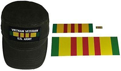 Dark Green Top Hat (COMBO GIFT SET VIETNAM VETERAN U.S. ARMY FLAT TOP PATROL STYLE HAT - DARK OLIVE)