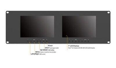 "LILLIPUT RM-7024 7"" 3RU Rack Monitors With dual VGA & Video"
