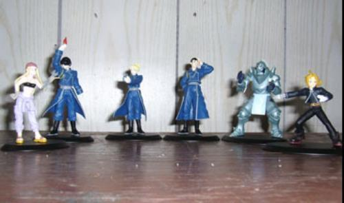Brand New with Box Fullmetal Alchemist Character Anime Figure Set of 6 AMADA