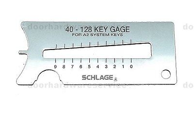 Schlage Ic Key Gauge Decoder Clip Remover Pin Depressor - Locksmith Tool