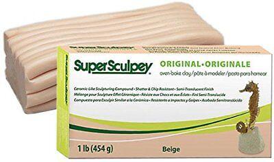 Super Sculpey Original Beige 1lb / 454g - LOWEST PRICE IN UK - FRESH CLAY BEST
