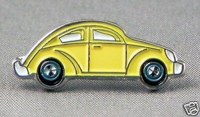 Yellow Volkwagon VW Beetle Bug style enamel pin / lapel badge