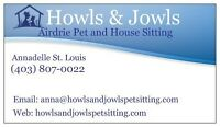 AIRDRIE- Howls & Jowls Pet & House Sitting