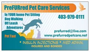 PROFESSIONAL PetSitter, Dog Walker, Pet Taxi.  INSURED, LICENSED