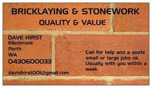 BRICKLAYING AND STONEWORK Perth Perth City Area Preview
