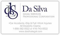 CAR ACCIDENTS, SLIP & FALL, DISABILITY CLAIMS, WORK INJURIES