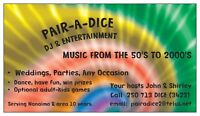 PAIR A DICE DJ AND ENTERTAINMENT   www.pairadicedjnanaimo.com