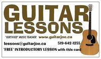 Experienced Guitar Lessons With A Certified Professional Teacher