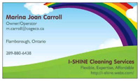 I-Shine cleaning requires new clients in Flamborough, Carlisle a