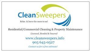 CleanSweepers Cleaning Services Hiring New Cleaners Now!