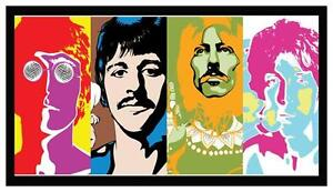 Fridge Magnet: The Beatles - Andy Warhol Portrait Collage