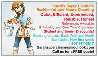 "Sarah Super Cleaners ""APARTMENT"" CLEANING PROMOTION~ MAY 2015"
