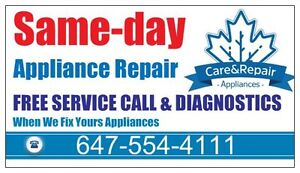 Don't worry about your appliance repair that is our job!
