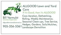 ALLGOOD Lawn and Yard Care - Tree Cutting and Removal