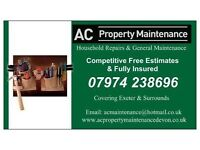 AC PROPERTY MAINTENANCE - EXETER- GENERAL REPAIRS AND HOUSEHOLD MAINTENANCE