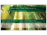 Radcliffe tree specialist & garden services