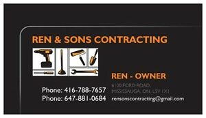 RENOVATORS GENERAL CONTRACTORS AVAILABLE IN MISSISSAUGA