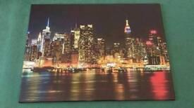 New York City Canvas Print,Manhattan Skyline