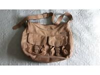 Storksak Emily leather baby changing bag