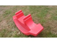 See saw double rocker red kids childrens