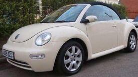 VW BEETLE CREAM CABRIOLET 1.6 petrol