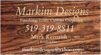 Trim Carpenter Hardwood Laminate Doors Crown Moulding Installer