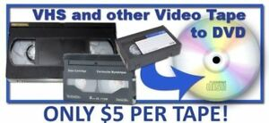 VHS to DVD Transfer your Home Movies to DVD and USB Hard drive