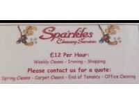 Sparkles Cleaning Services. Fully Insured/Great Rates/Great References.