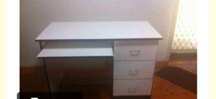 White desk Bass Hill Bankstown Area Preview