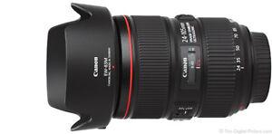 Lentille Profetionnelle Canon 24-105mm serie L